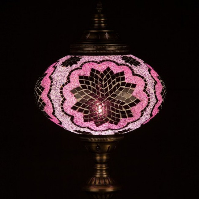 Handcrafted Turkish Table Lamp Buro34 Pink Wonderlamp Shop Turkish Lamps Turkish Lights Lamp