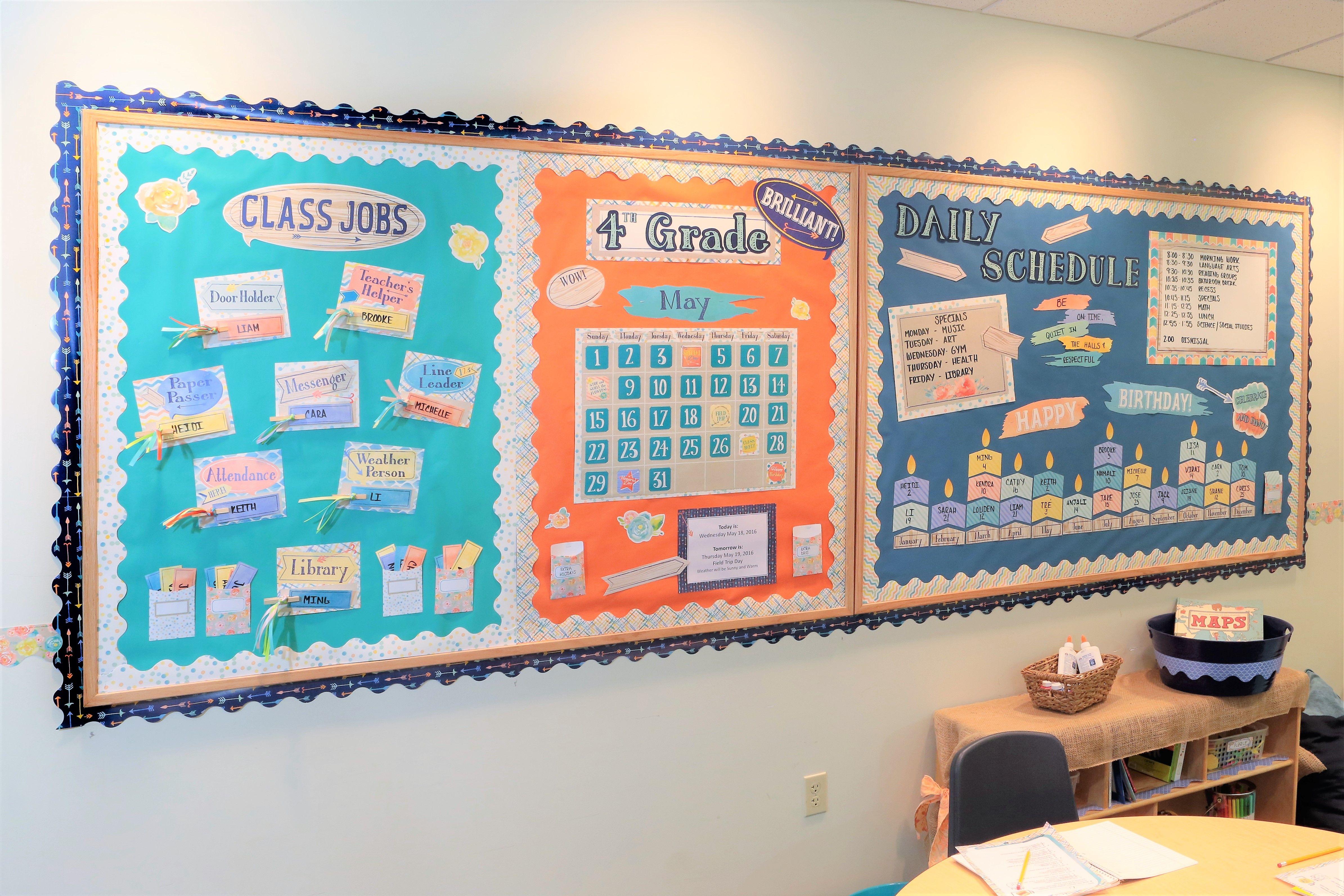 Classroom Decorations Bulletin Board Set : Confetti splash classroom decor and bulletin board set eureka