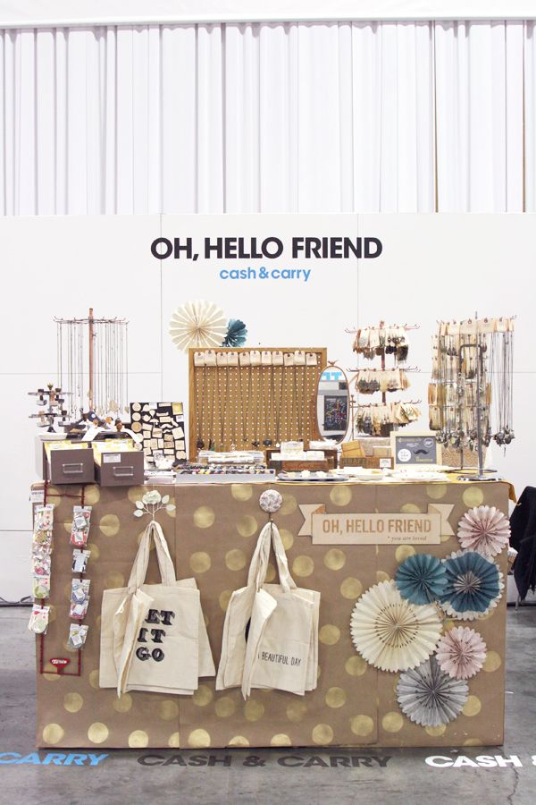 Trade Show Booth Diy Craft Paper Spraypainted Polka Dots
