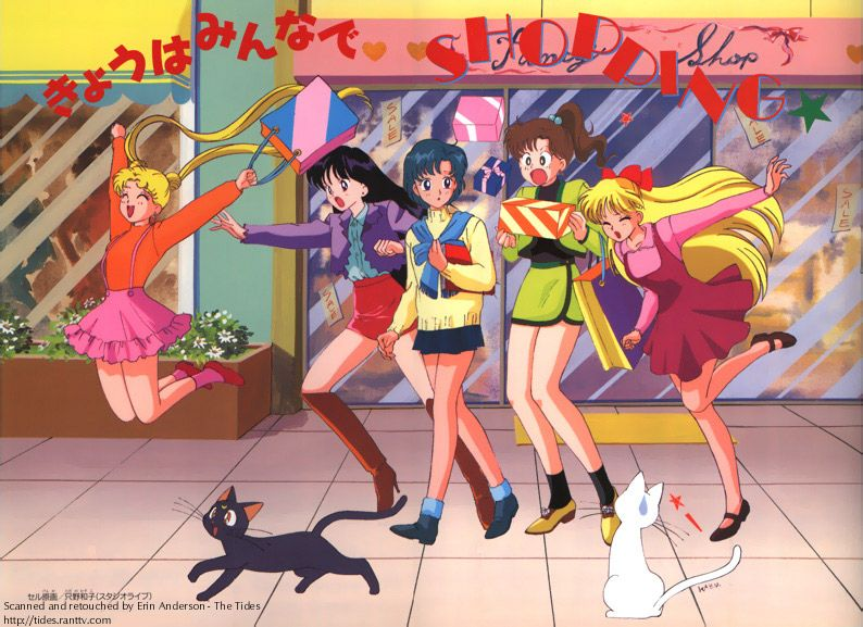 Bishoujo Senshi Sailor Moon Today Everyone Goes Shopping