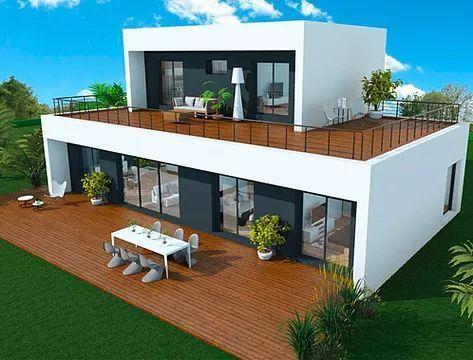 16 modèles de maisons à ossature bois archi-design, à prix direct ...