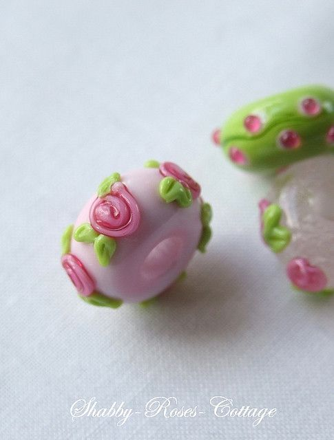 Glass beads.  Made with love in Germany