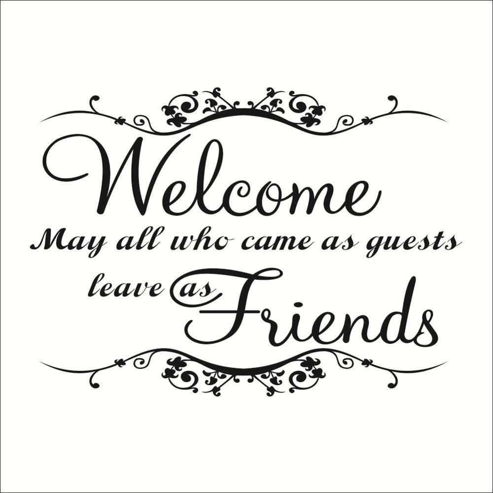Welcome Wall Decal Quote Welcome Home Quotes Wall Stickers Welcome Wall Stickers Quotes