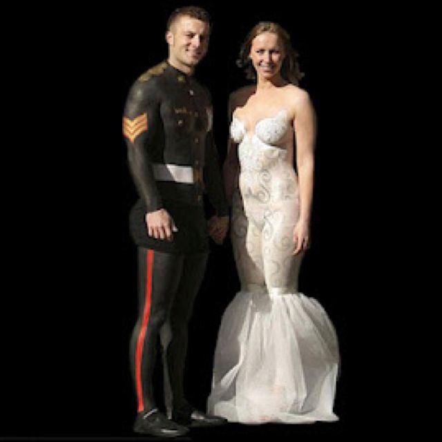Body Painting Wedding Dress Horrible Wedding Dress Unusual Wedding Dresses Worst Wedding Dress
