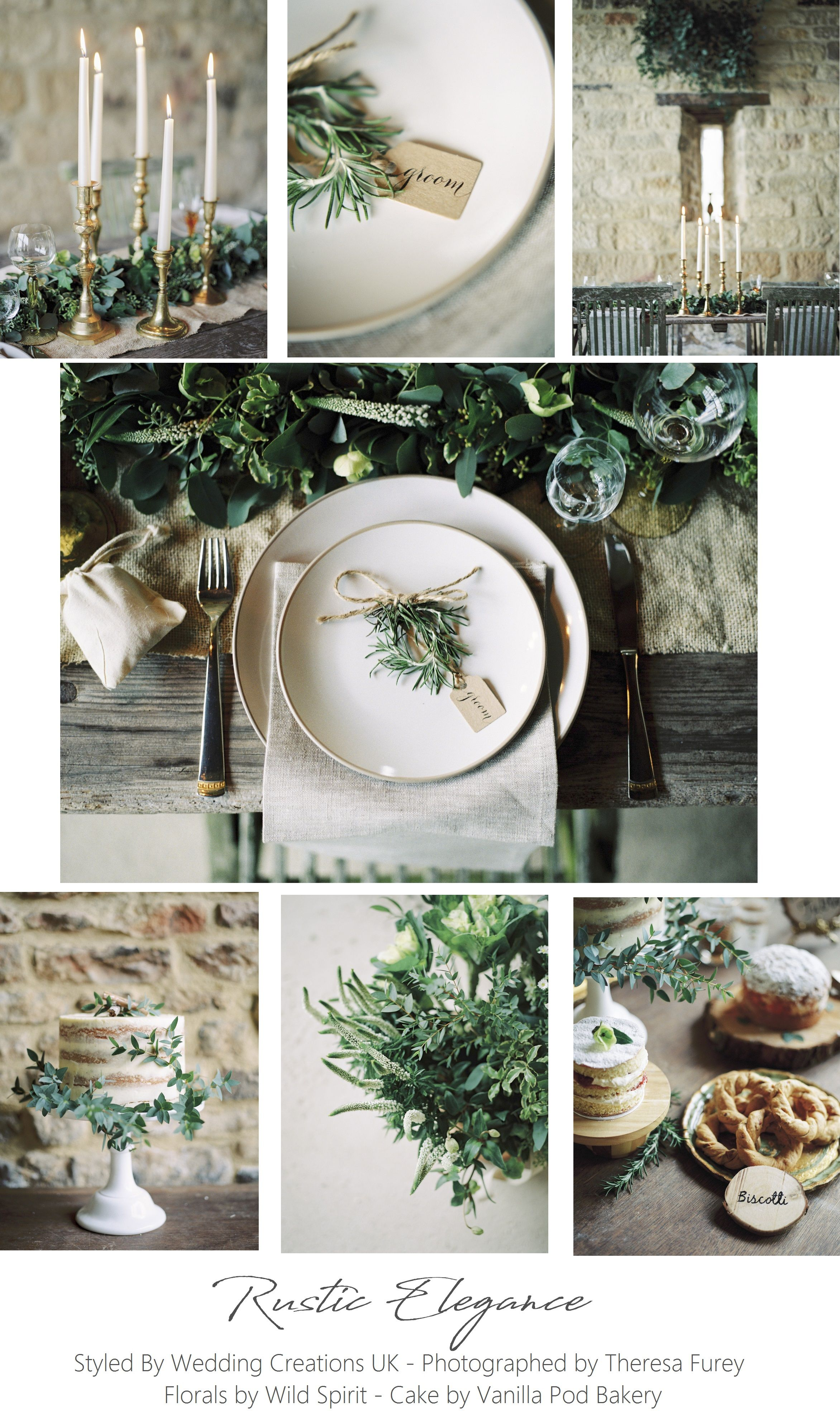 Rustic Elegance Using Foliage And Natural Tones Styled By