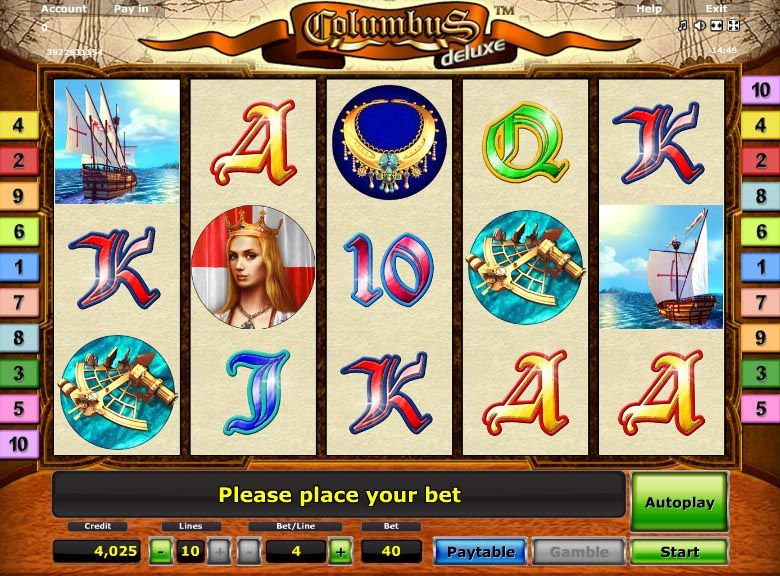 Columbus Deluxe Is A Free Slot Game From Novomatic The Game Gives Vast Opportunity To Undertake A Voyage On The Sea And Help You B Casino Slot Free Slot Games