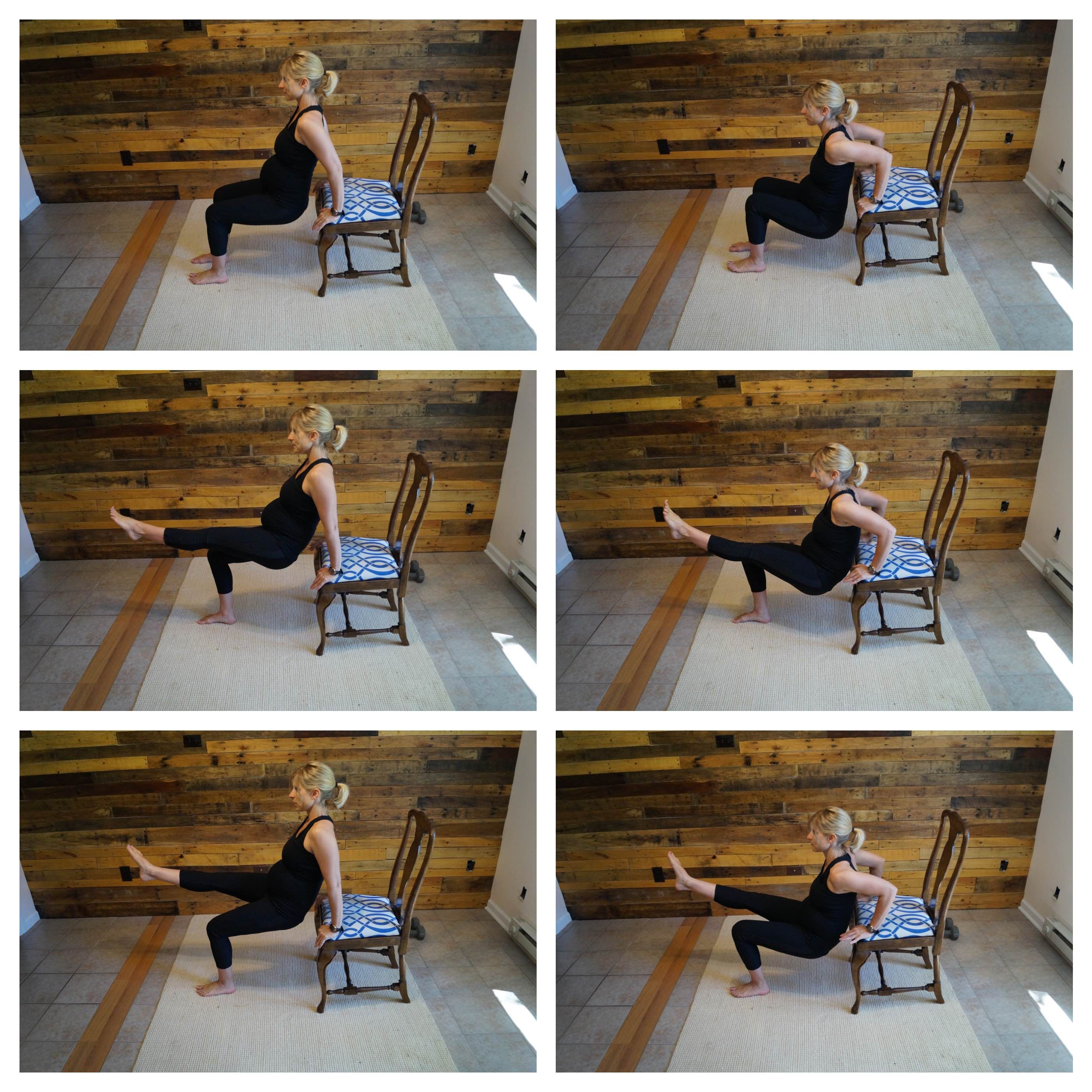 Tricep Dips Using A Stable Chair Begin With Hands Palms On The Edge Of The Chair Take A Step Forward Bend Your L Tricep Dips Easy Workouts Postnatal Workout