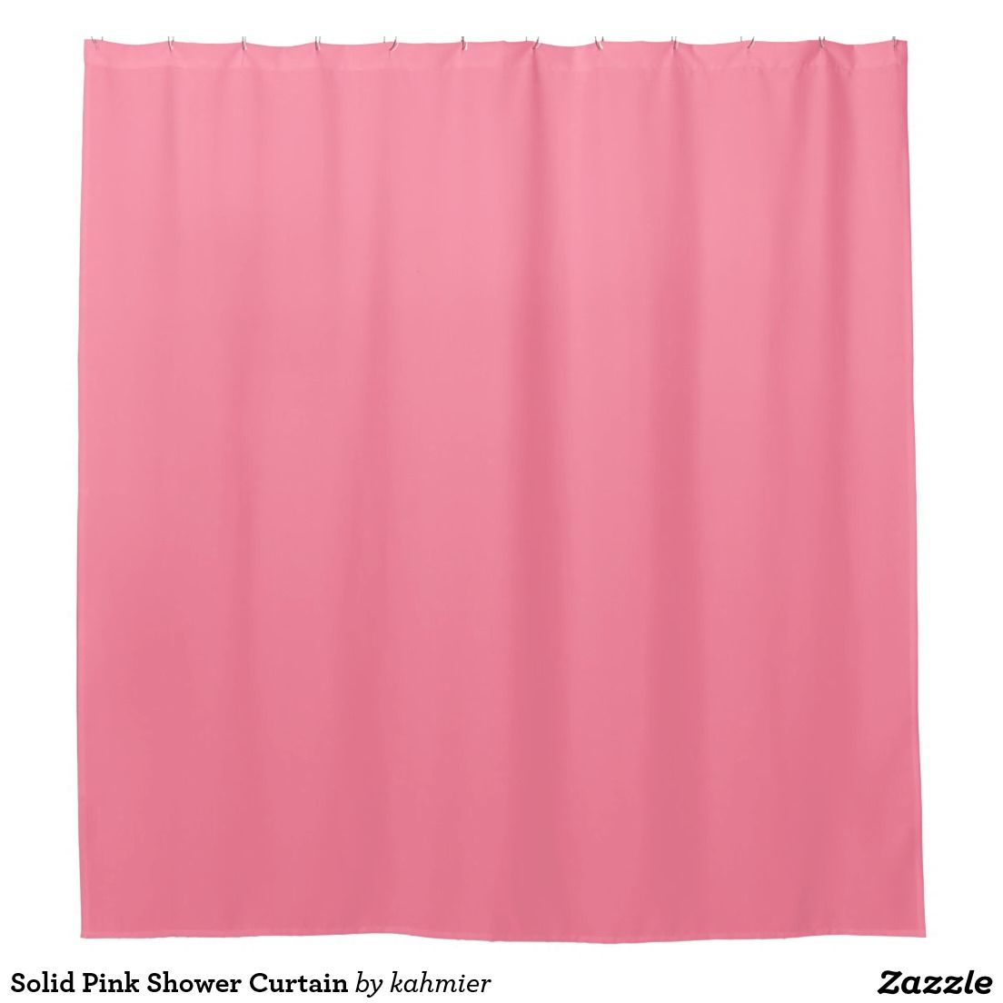 Solid Pink Shower Curtain
