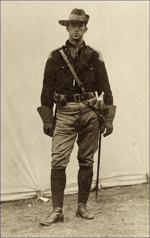 Walter Rendell In The Legion Of The Frontiersmen Uniform