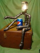 Microphone #vintagemicrophone #nightlight #desklamp #pipefittings #Dynamicmicrophonelamp