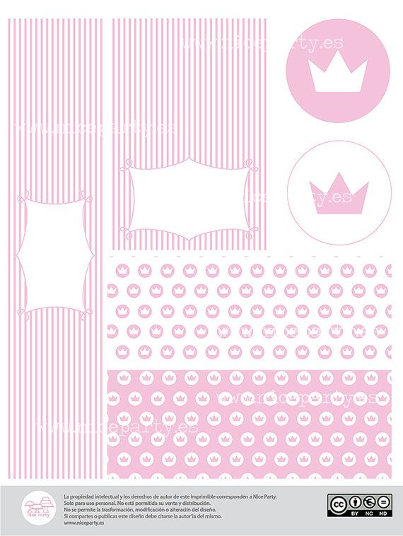 Pack imprimible de fiesta infantil princesas color por NiceParty ...