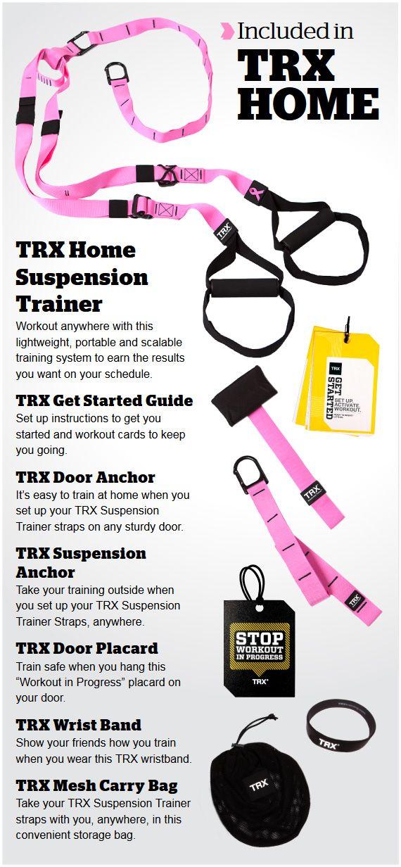 The Trx Pink Home Suspension Training Kit Fitness Pinterest