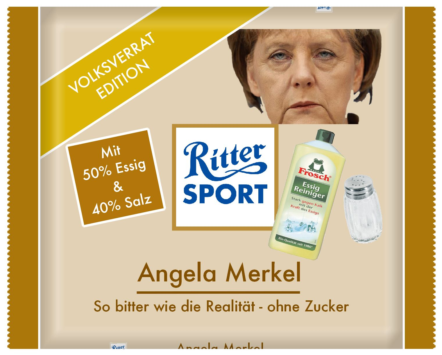 ritter sport angela merkel so bitter wie die realit t. Black Bedroom Furniture Sets. Home Design Ideas