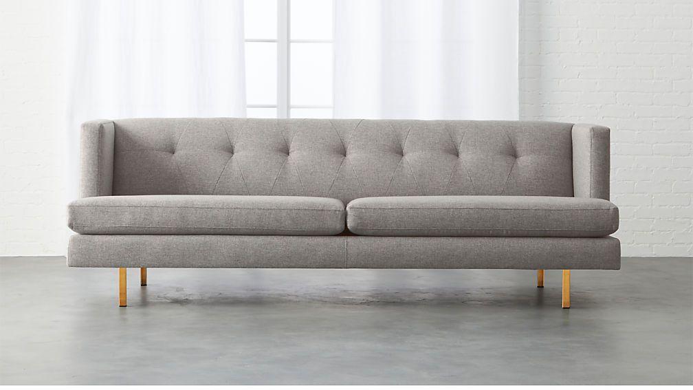 Avec Grey Mid Century Modern Sofa Minimalist Furniture Gray