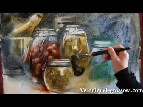 Watercolor Painting Demonstration By Rukiye Garip Videos De