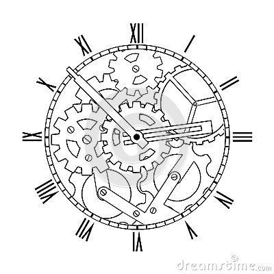 Pin by Kayla Fox on Gears, Clocks, Keys Silhouettes