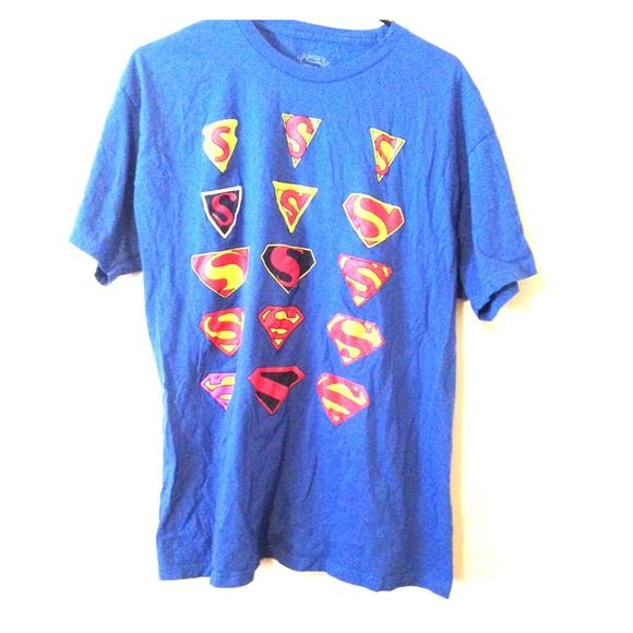 Superman Symbol Shirt Hot Topic Shirt Blue With 16 Different