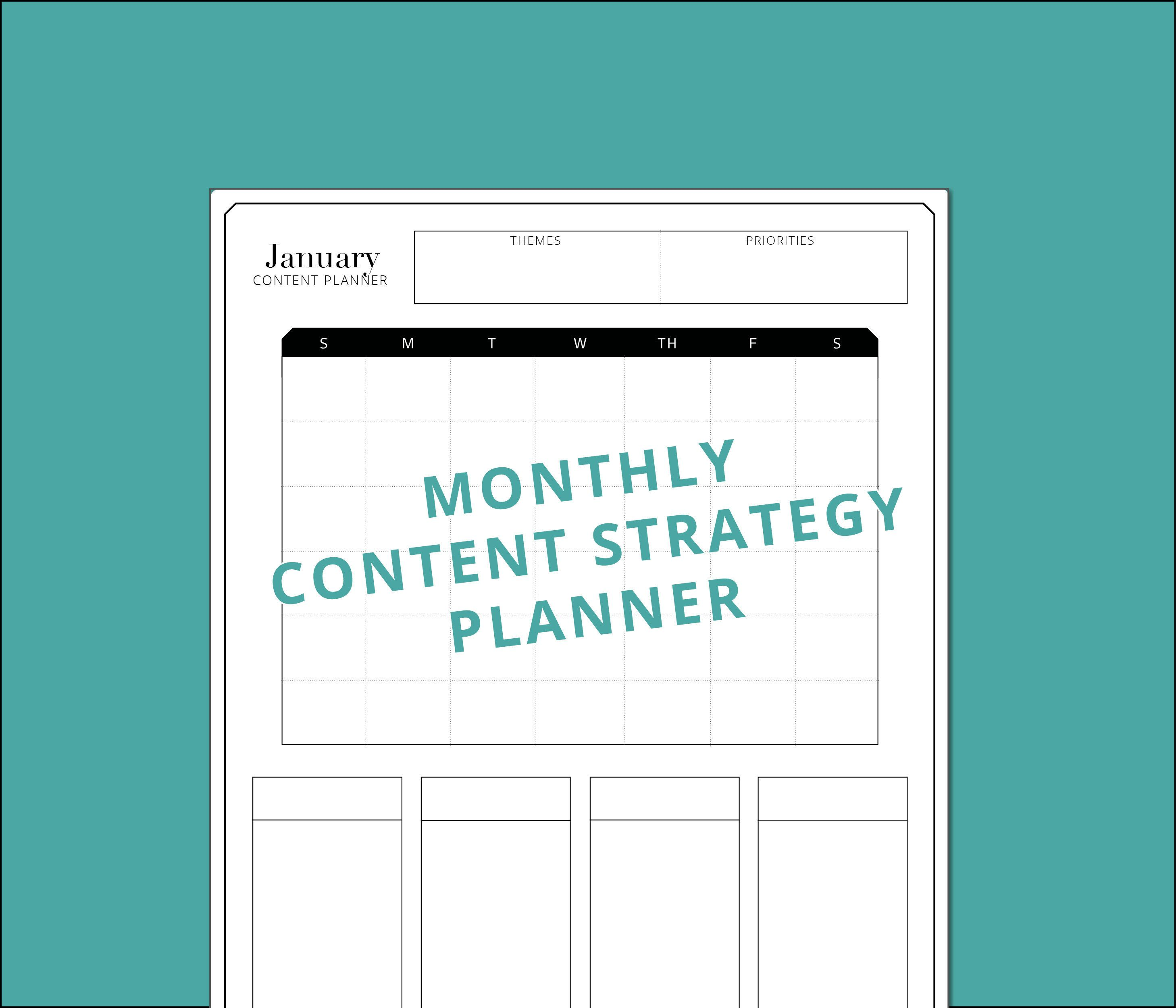 love this classic monthly weekly content strategy calendar just download the pdf and diy