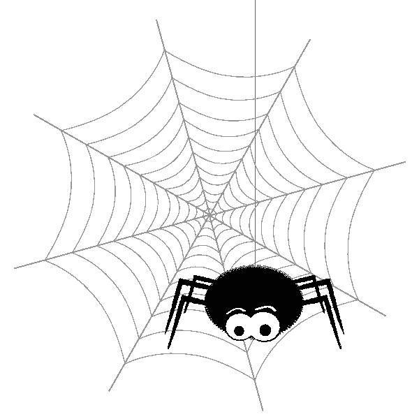 Imagen de araña en su telaraña. Halloween.