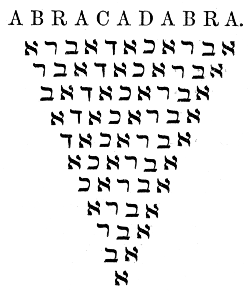 """the word abracadabra may derive from an aramaic phrase meaning """"i"""