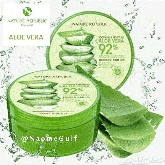 جل الصبار من شركة ناتشورال ربابلك جل ملطف ومرطب للبشره يحتوي على 92 من ال Nature Republic Aloe Vera Moisturizer For Sensitive Skin Skin Cosmetics