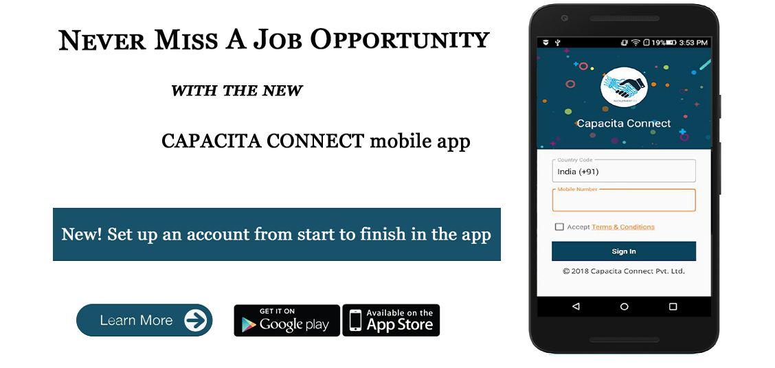 Capacita Connect Is The Founder Of Capacita Connect App App Job Search Apps Job Roles