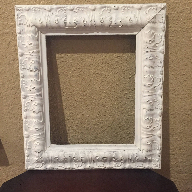 Shabby Chic Frame Shabby Chic 8x10 Frame Distressed White Ornate