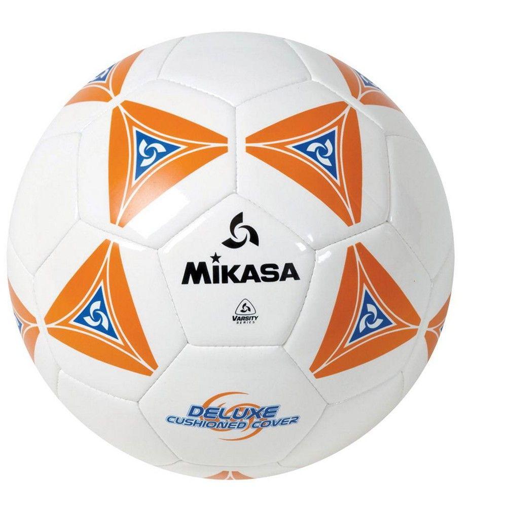 Mikasa No 5 Deluxe Cushioned Soccer Ball Orange White Blue Soccer Ball Soccer Mikasa