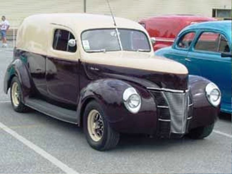 1940 Ford Sedan Panel With Images Panel Truck Car Ford