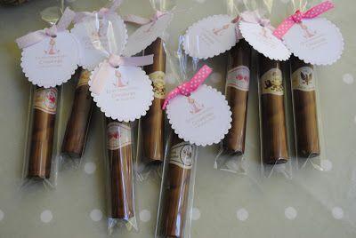 LOS DETALLES DE BEA: Puros de chocolate para la Comunión de Covadonga