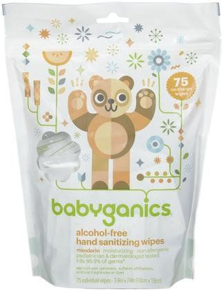 Babyganics The Germinator Alcohol Free Hand Sanitizer Wipes