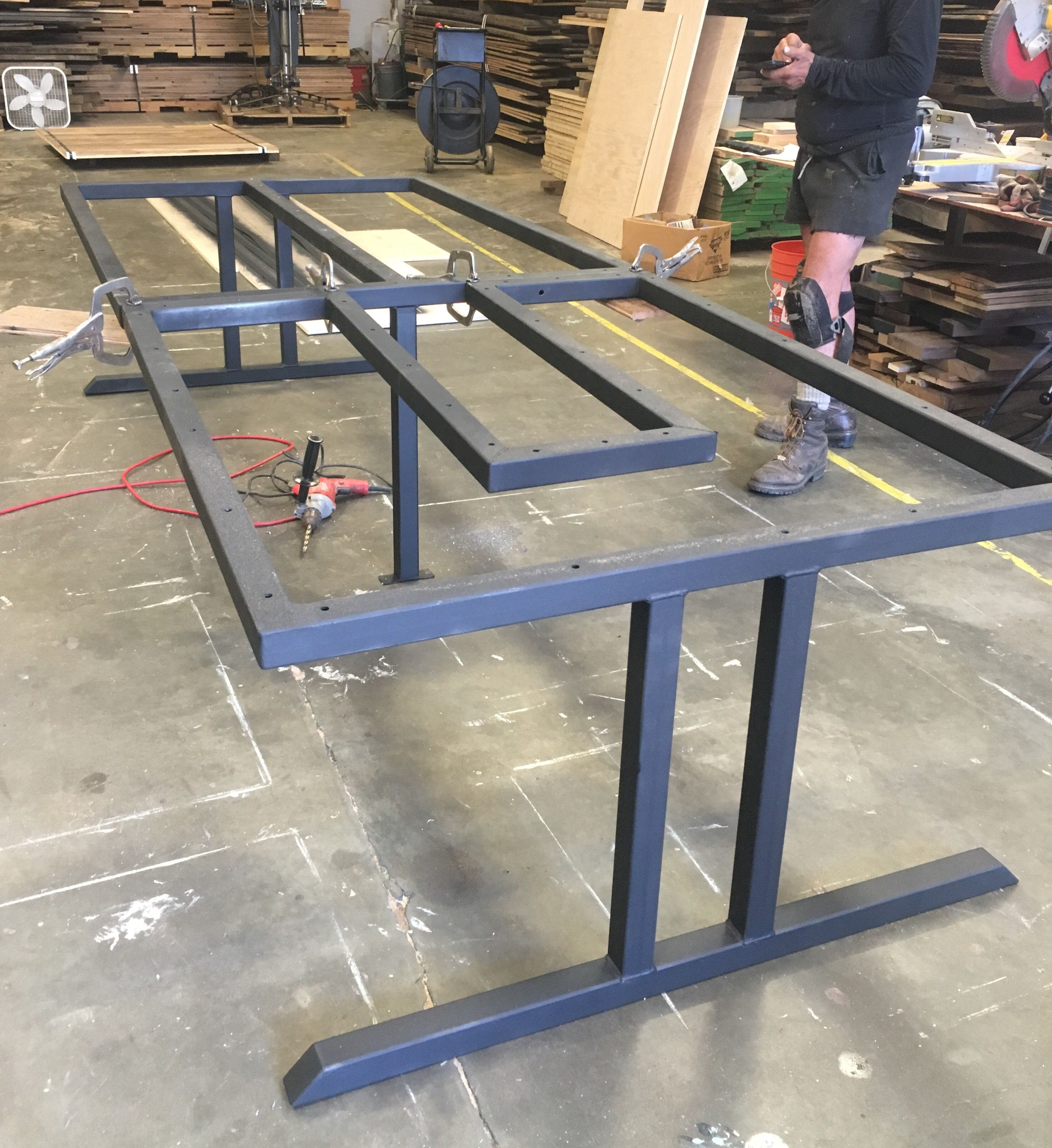 metal furniture plans. #custommetaltablebase For #reclaimedwoodconferencetable @blacksfarmwood. Steel FurnitureIron Metal Furniture Plans