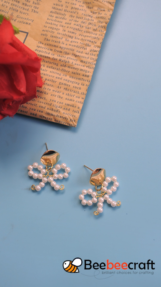 #Beebeecraft DIY #earrings con #pearlbeads.