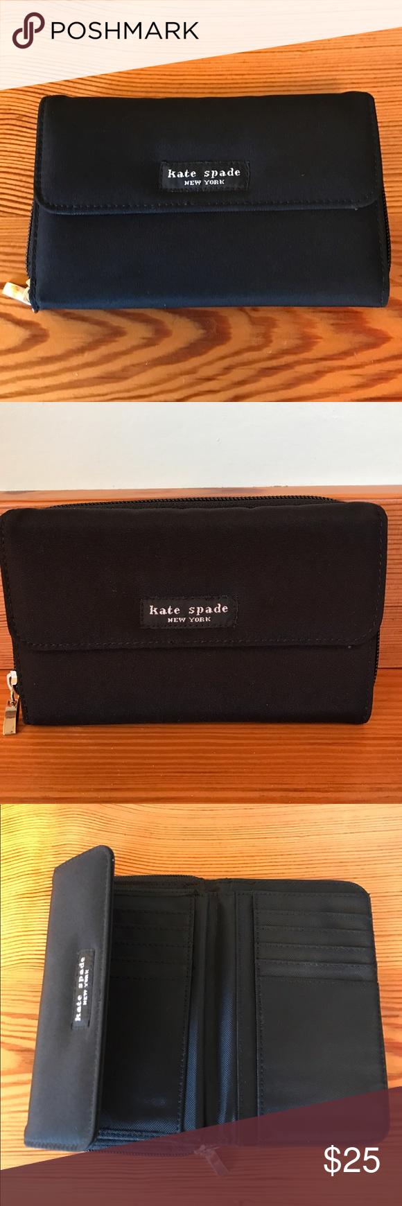 Kate Spade Wallet Black Kate Spade wallet. Great condition. kate spade Bags Wallets