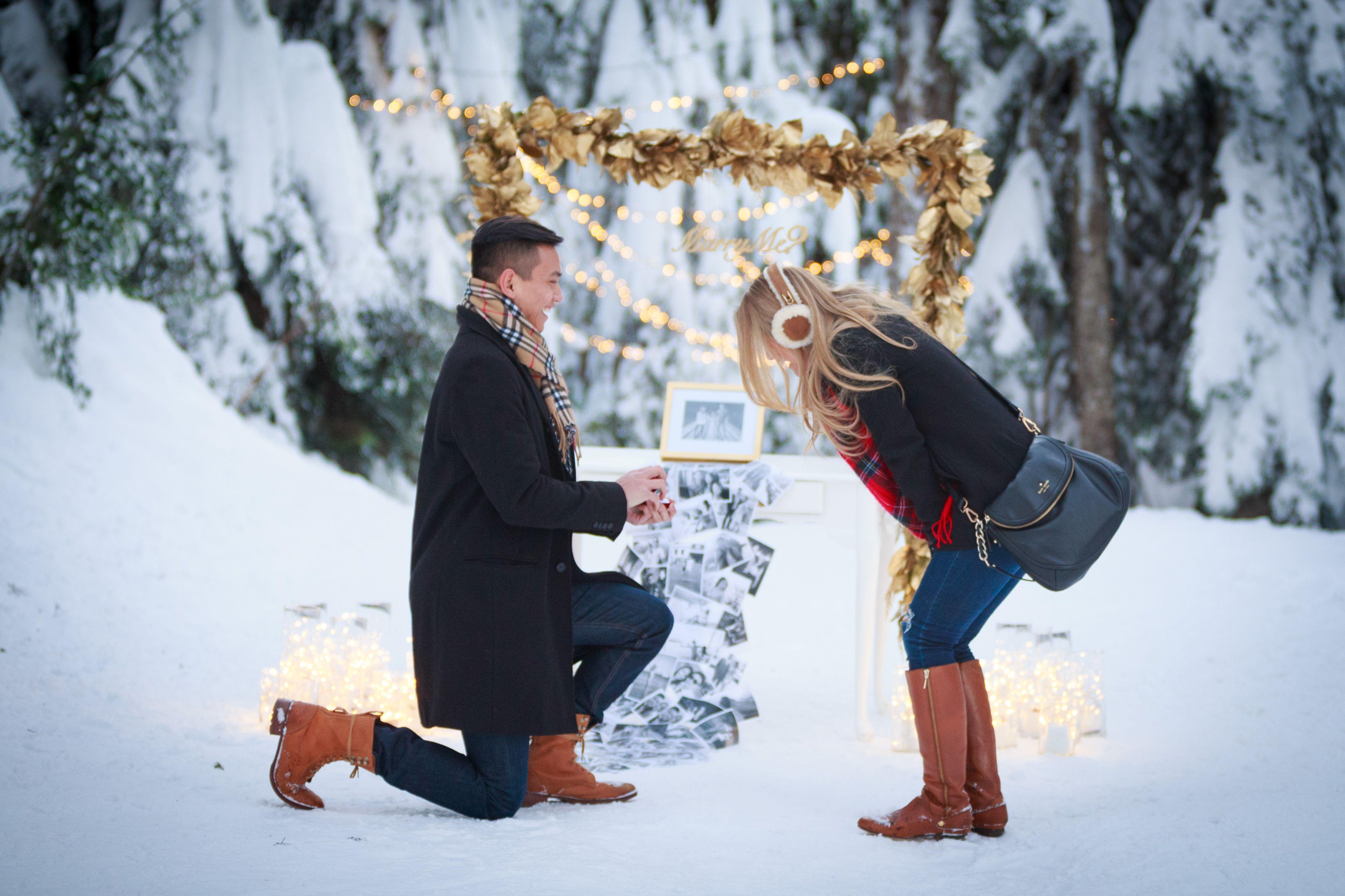 winter proposal | wedding proposal ideas! in 2018 | pinterest
