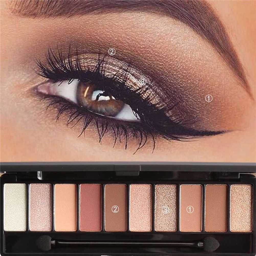 1.28 AUD 10 Colors/Set Eye Shadow Makeup Shimmer Matte