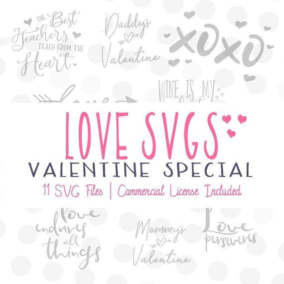 Download Valentine Svg Bundle Files for Cricut and Silhouette ...