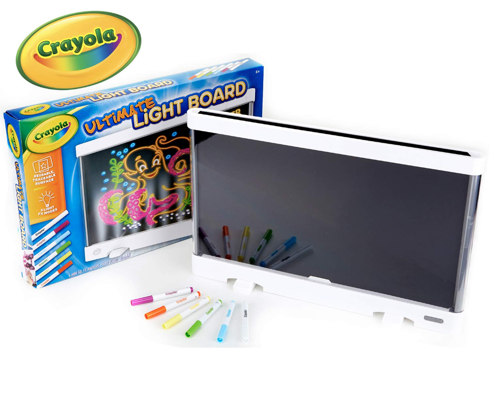 Amazon Com Crayola Ultimate Light Board Drawing Tablet Gift For Kids Age 6 7 8 9 Art Hov Marker Storage Light Board Gifts For Kids