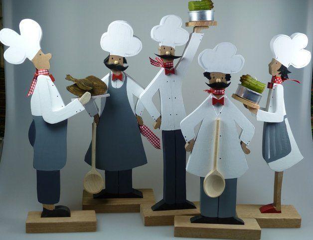 Koch - dekorative Figur aus Holz für die Küche Holzkunst, Die - dekoration f r die k che