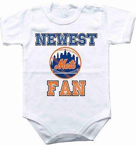 best sneakers 446d7 3694f Baby bodysuit Newest fan New York Mets NY baseball One Piece ...