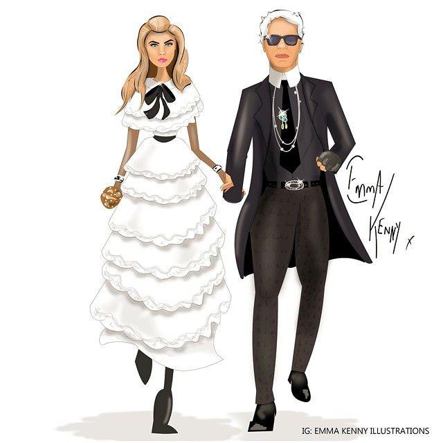 @caradelevingne @karllagerfeld Chanel Pre-Fall 2015-Mètiers dArt