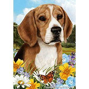 Summer Flowers Beagle Flag Beagle Art Beagle Corgi