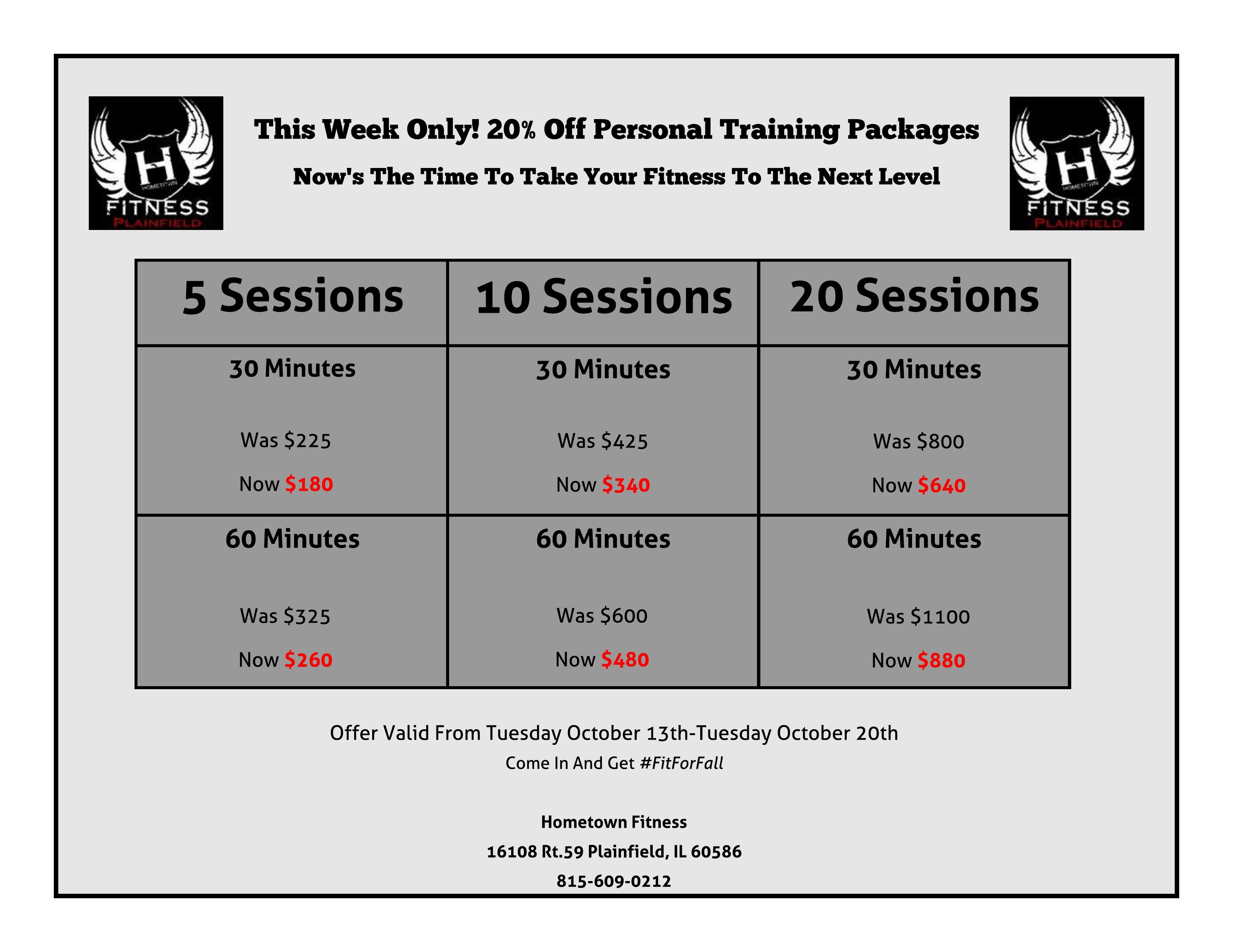 Pin By Hometown Fitness On Special Offers Personal Training You Fitness Get Fit
