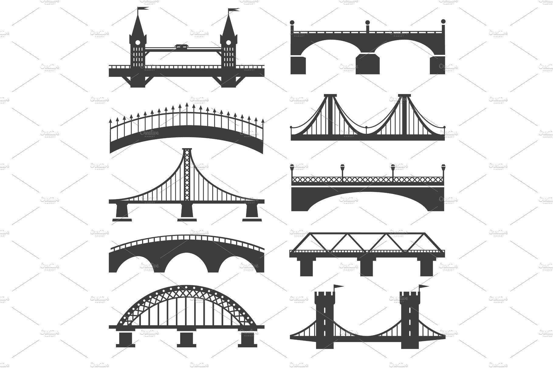 Bridge Silhouette Icons Bridge Icon Silhouette Icon