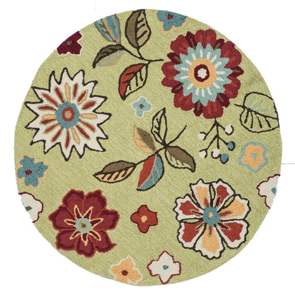 Loloi Rugs Summerton Life Style Collection Sage Multi 3 Ft Round Area Rug Discontinued Sumrssc17sgml300r At The Home Depot