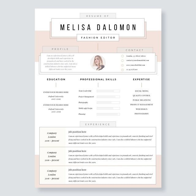 Creative And Professional Resume Template In Microsoft Word. Cv With Modern  And Clean Design Day 55 Resume. #resume #microsoftword #cv #resumes #reu2026
