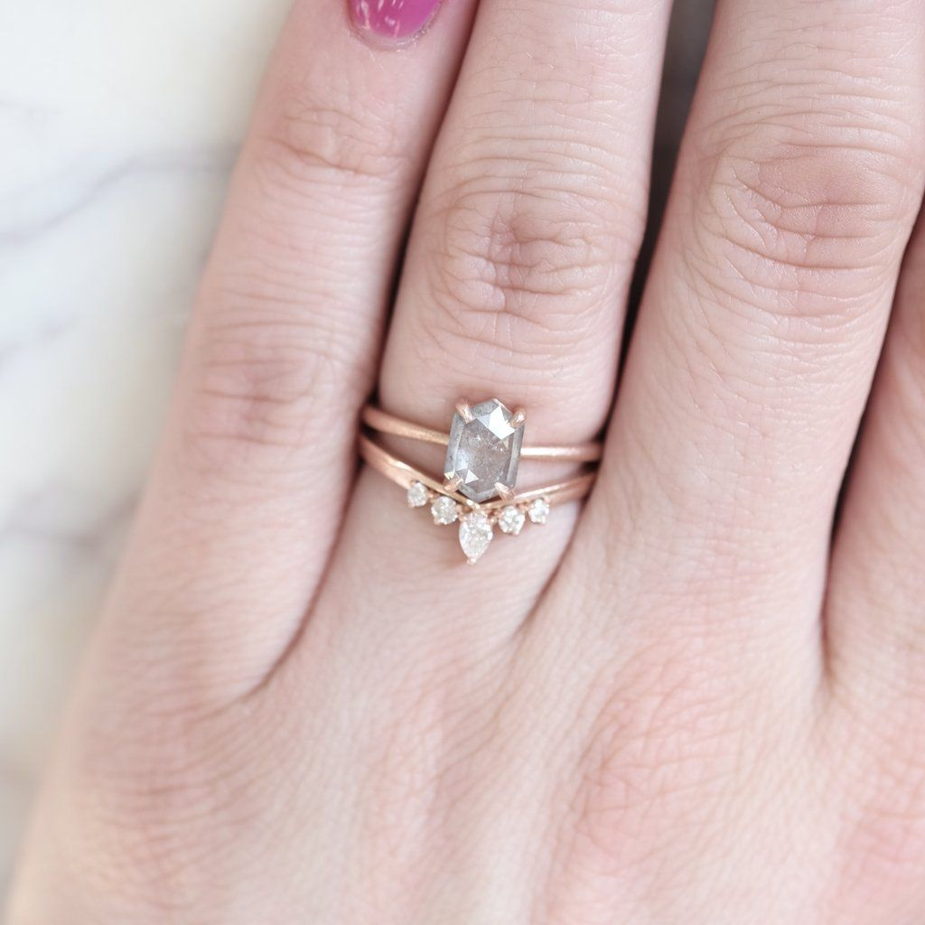 10Kt Rose Gold 0.25 Ct Genuine Natural Diamond Engagement Halo Ring
