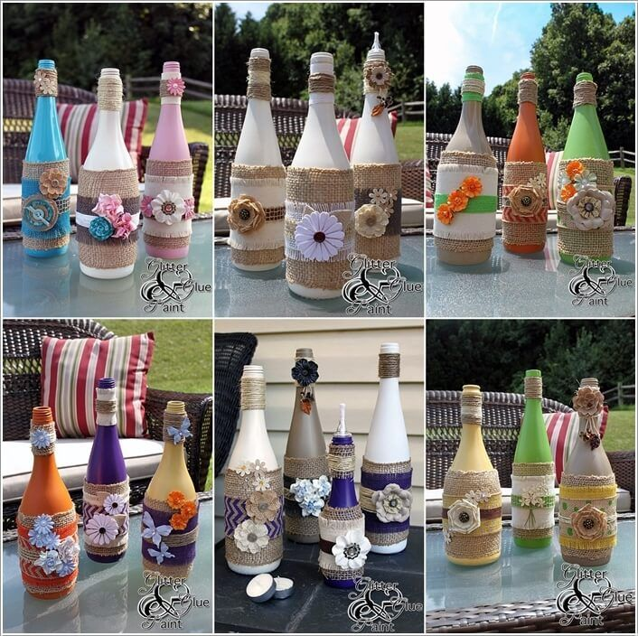 Cool Ways To Decorate Glass Bottles 40 Emily Pinterest Glass Adorable Ways To Decorate Glass Jars