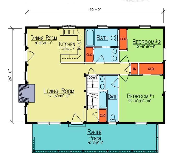 Stillwater floor plan from Ward Cedar Log Homes – Cedar Log Home Floor Plans