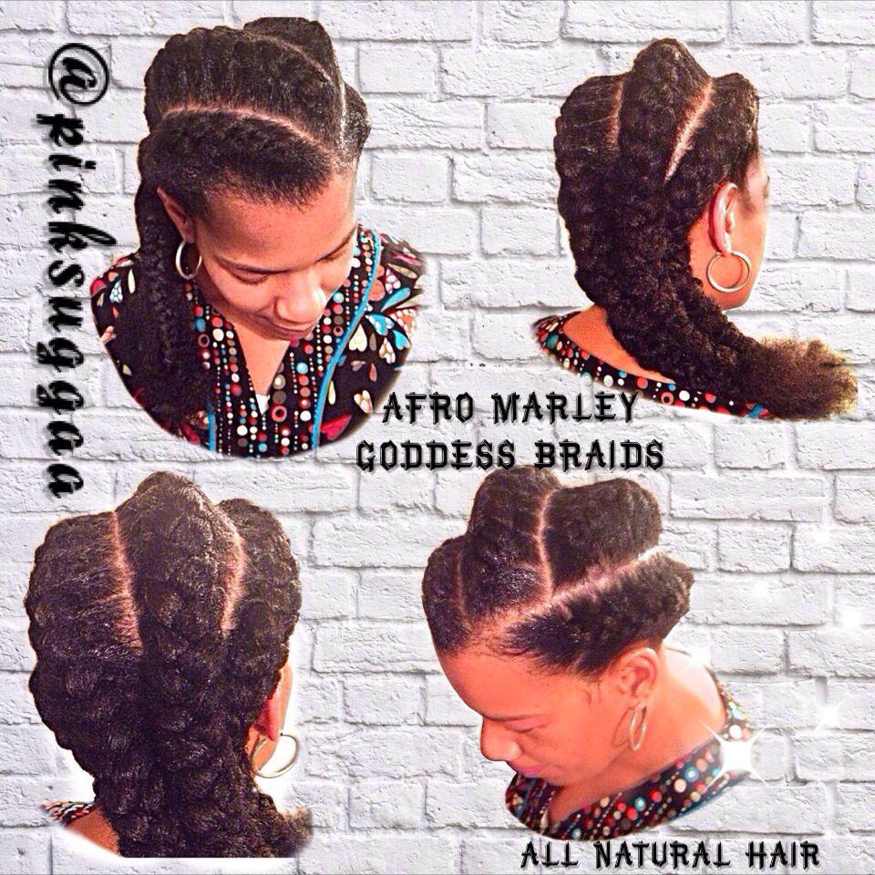 Afro marley goddess braids natural liok hair pinterest